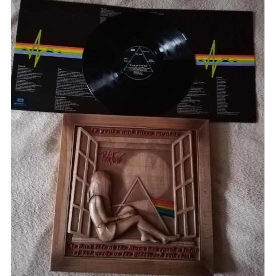 wooden box for vinyl (LP) - Pinl Floyd