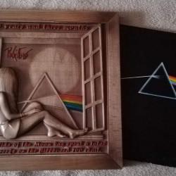 wooden box for vinyl (LP) - Pinl Floyd