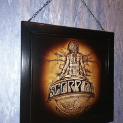 wooden box for vinyl (LP) - Scorpions